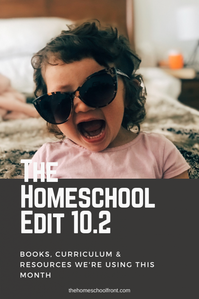 Blog title with toddler wearing sunglasses indoors.